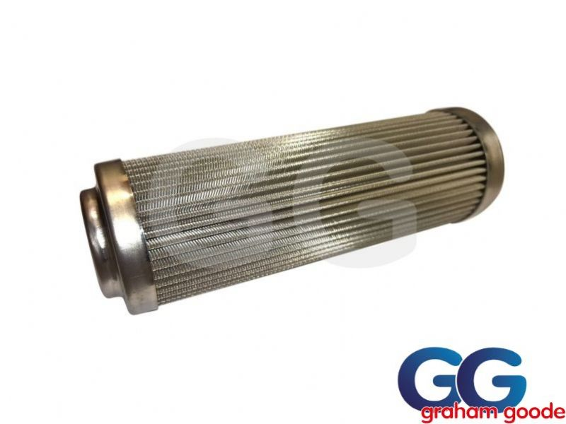 "Fuelab Replacement Long Fuel Filter 5"" 75 micron S S 71807"